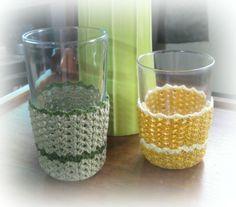 Striped Shells Glass Cozy - free pattern