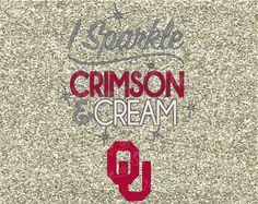 I Sparkle Crimson and Cream University of Oklahoma Sooners State Football Logo…