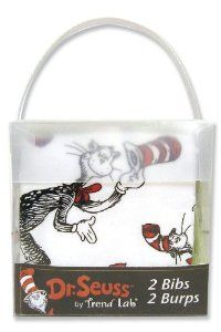 Amazon.com: Trend Lab Dr. Seuss Bib and Burp Combo Gift Set, Cat In The Hat: Baby