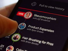 Hair Brushing for Pros - iPhone Mobile Design