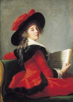 Elisabeth-Louise VIGEE-LE BRUN (Paris, 1755 - Paris, 1842) Portrait de la Baronne de Crussol, 1785, huile sur toile, Inv. RO 307. Exposée, salon blanc. © Musée des Augustins, Toulouse, photographie Daniel MARTIN.