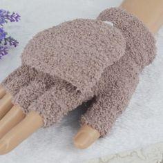 Trendy Fingerless Gloves - Khaki