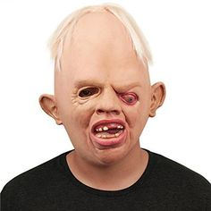 Hot Sale Cosplay Party mascaras de latex realista Scary Horror Full Face Mask Terrible Weirdo Mask for Masquerade Party