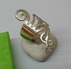 Vintage Ringe - Silberring Gabel gebogen Silber 925 Vintage SR539 - ein Designerstück von Atelier-Regina bei DaWanda