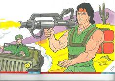 Analysing the 1988 Rambo children's annual | Den of Geek