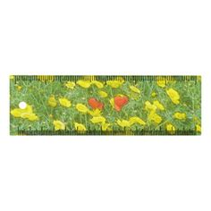 Watercolor poppies ruler - floral style flower flowers stylish diy personalize