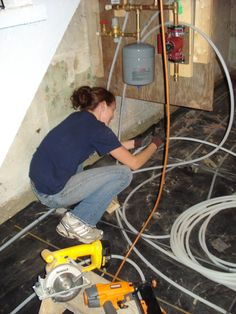 closed loop hydronic radiant heat & heated concrete floor Heated Concrete Floor, Heated Floor, Concrete Floors, Radiant Heat, Outdoor Power Equipment, Home Appliances, Flooring, House Appliances, Concrete Floor