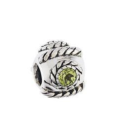 This Peridot Swarovski® Zirconia & Sterling Silver Rope Bead is perfect…