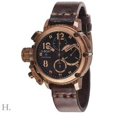 U-Boat 8014 Chimera Bronze Chrono Men's Wristwatch – Houffpauir Swiss Watches Cool Watches, Rolex Watches, Wrist Watches, Louis Erard, Swiss Watches For Men, Authentic Watches, Limited Edition Watches, Bronze, Expensive Watches