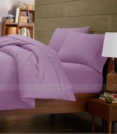Lilac Single Egyptian Cotton Quilt Duvet Cover + Sheet Choice - 1000TC Double Duvet Covers, Single Duvet Cover, King Duvet, Queen Duvet, Grey Duvet, Egyptian Cotton Bedding, Quilt Cover Sets, Cotton Quilts, Twin