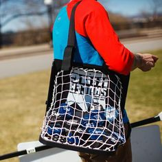 Move the with ease - each net holds up to 40 pucks! Hockey Games, Hockey Players, Kings Game, Hold Ups, Gym Bag, Diaper Bag, Instagram Posts, Bags, Handbags