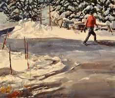 """Winter Walk"" - Original Fine Art for Sale - � Brienne M Brown"