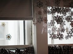 I'm going to make snowflakes and hang them off my ceiling as well. :-)
