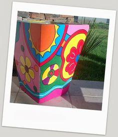MACETAS Painted Flower Pots, Painted Pots, Cactus Clipart, Terracotta Pots, Clay Pots, Garden Planters, Painting On Wood, Folk Art, Mosaic