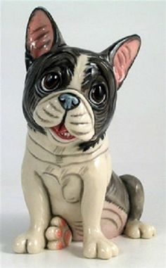 Napolean French Bull Dog - Pets with Personality Collectible Dog Figurine