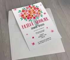 DIGITAL - FLoral Bouquet Bridal Shower Invitation