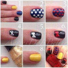 Snow white nails tutorial by Aggies do it Better