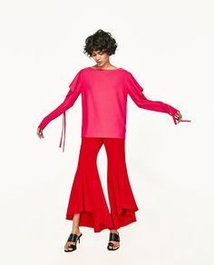 ZARA - WOMAN - T-SHIRT WITH BOW