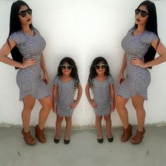 Conjunto Mamá e hija disponible en tallas : S/M , 3t4t. #Tienda Virtual #Maracaibo #Venezuela