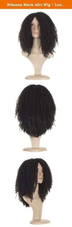 Rihanna Black Afro Wig | Long Full Afro Curl | Stunning Black. Based on Rhianna's gorgeous Black Afro locks. Limited Edition - Exclusive to Hair By Misstresses Stunning Vibrant Afro inspired by Rhianna's famous hairstyles. Lightweight Adjustable wig cap suitable for head circumference up to 23.5 Inches. Heat styleable hair-like fibre. Can be styled with heat appliances up to 180 degrees centigrade.