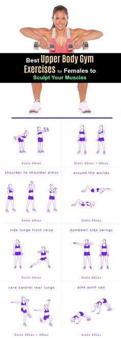 Upper Body Workout For Women at the Gym- for Quick Fat Burning, Toning and Strength. Try It