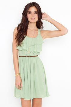 Pretty ruffled summer dress