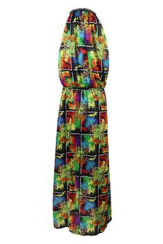 #Romwe Painting Narrow Shoulders Dress