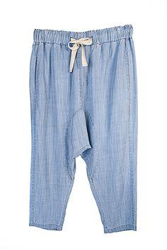 Bohemian Traders Summer Drop Crotch Pant in Chambray