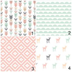 little oasis custom woodland fawn deer crib bedding. choose what
