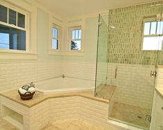 Subway Tile Glass Accents Childrens Bath Design, Pictures, Remodel, Decor and…