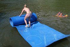 WaterMat Allows Walking, Jumping, Sliding Over Water! WaterMat Allows Walking, Jumping, Sliding Over Water! Summer Of Love, Summer Fun, Summer Time, My Little Kids, My Pool, Take My Money, Lake Life, Catamaran, Cool Gadgets