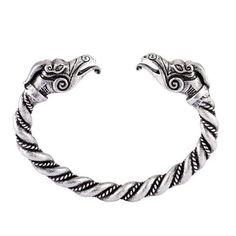 Hugin et Munin Viking Metal, Viking Shop, Bracelet Viking, Jewelry Gifts, Jewelry Accessories, Bangle Bracelets, Bangles, Viking Dragon, Vegvisir