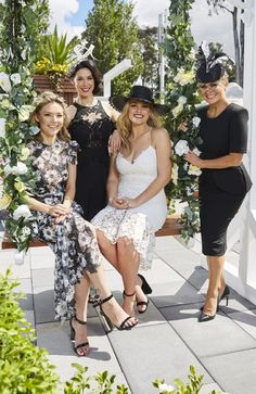 Derby Day fashion, dresses, celebrities and marquees at Flemington Racecourse Derby Day Fashion, Home And Away Cast, Olympia Valance, Matt King, Flemington Racecourse, Elyse Knowles, Rebecca Judd, Robyn Lawley, Melissa George