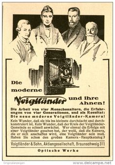 11 x Original-Werbung/Inserat/ Anzeigen 20/30er Jahre VOIGTLÄNDER CAMERAS/KAMERAS jeweils ca. 70 X 100 mm