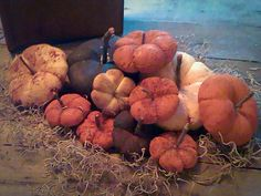 Primitive Pumpkins set of 11 FREE SHIPPING!! by TheKornerCupboard, $48.50