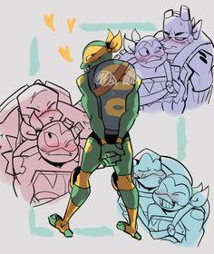 Tmnt Comics, Avengers Comics, Ninja Turtles Art, Teenage Mutant Ninja Turtles, Tmnt Mikey, Character Art, Character Design, Tmnt 2012, Cartoon Crossovers