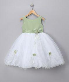 Sage Rose Party Dress - Toddler & Girls