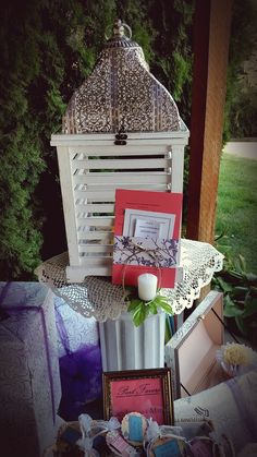 Vintage Birdcage Used For Cards Bridal Shower Backyard Party