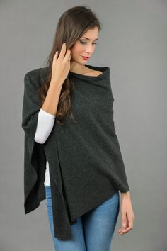 Visit our website www.italyincashmere.com for the full collection and get 10% discount by signing up to our newsletter!  Available in 8 Colours, visit our other listings!  Have a feel of a timeless and hottest fashion trend in this high quality pure cashmere knitted poncho wrap with an asymmetrical shape that flatters with pretty well knitted lines. This ultra-soft pure cashmere poncho wrap looks so lovely with jeggings, jeans, leggings etc. Perfect for chilly days of fall and winter and…