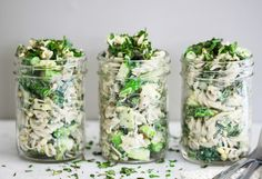 Brown rice pasta is tossed with asparagus, crunchy sprouts, and a creamy mayo free lemon tahini mustard dressing. Bean Sprout Recipes, Tahini Recipe, Tahini Dressing, Mustard Dressing, Dinner Side Dishes, Asparagus Salad, Superfood Recipes, Green Veggies, Mung Bean