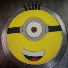 buttercream minion birthday cake