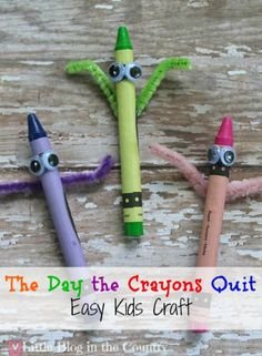 If you have discovered the fun story, The Day the Crayons Quit, then you know how adorable those little crayons are. This has become one of our favorite modern classic children's books. If you haven't yet I hope you are inspired to grab a copy of the book from the library or store and enjoy …