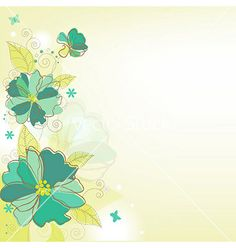 Flower background vector - by barbaliss on VectorStock®