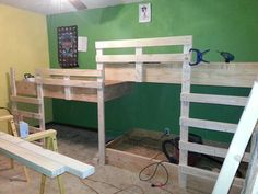 Triple Bunk beds, custom-made by my hubby :)