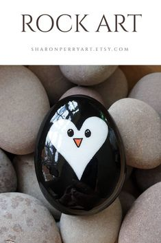 Excited to share the latest addition to my shop: penguin heart rock art Winter Crafts For Toddlers, Animal Crafts For Kids, Paper Crafts For Kids, Stone Crafts, Rock Crafts, Food Art For Kids, Penguin Craft, Crafts With Pictures, Preschool Art