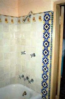 This photo shows Marilyn's shower as it was when she lived in the house.
