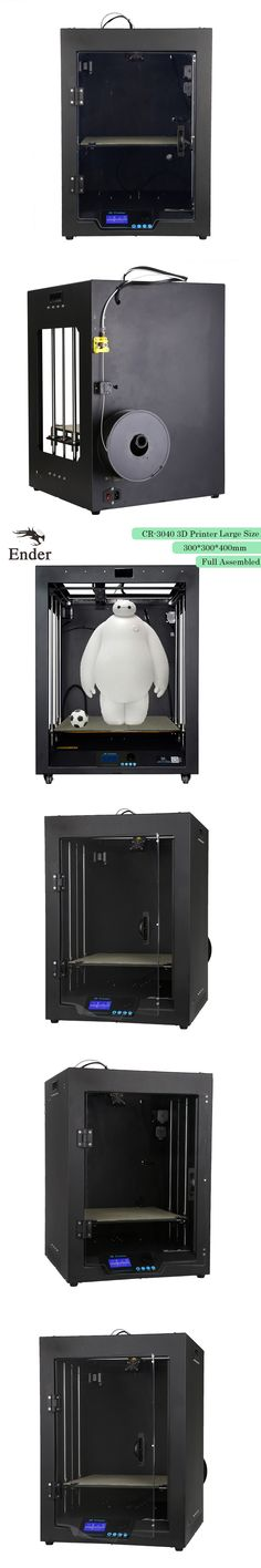 2017 3D printer CR-3040 Full Assembled 3D printer Large print size 300*300*400mm High precision with 1KG Filaments (Creality 3D)