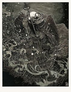 """The Watcher"" Art Print by Richey Beckett  (Onsale Info)"