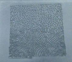 Plaque de texture pour pâte de métal / pâte polymère, « Peaux », Original Design by Barbara Becker Simon