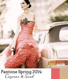 #Cayenne & #Sand for Spring Romance. #Pantone